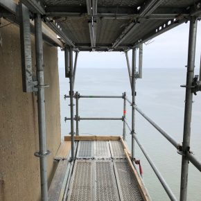 Projects  |  Chesapeake Bay Bridge Pier 34  |  Bridge Access   |  Scaffold Planks