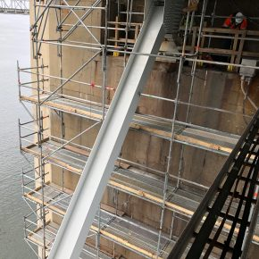 Projects  |  Chesapeake Bay Bridge Pier 34  |  Bridge Access   |  Wall Access  |  Scaffold Planks
