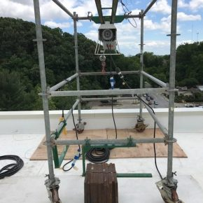 Projects     Elemental     Beta Hoist Mounted on Roller System