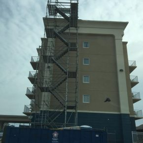 Projects  |  Ocean City  |  Stair Tower  |  Mataerial Hoist